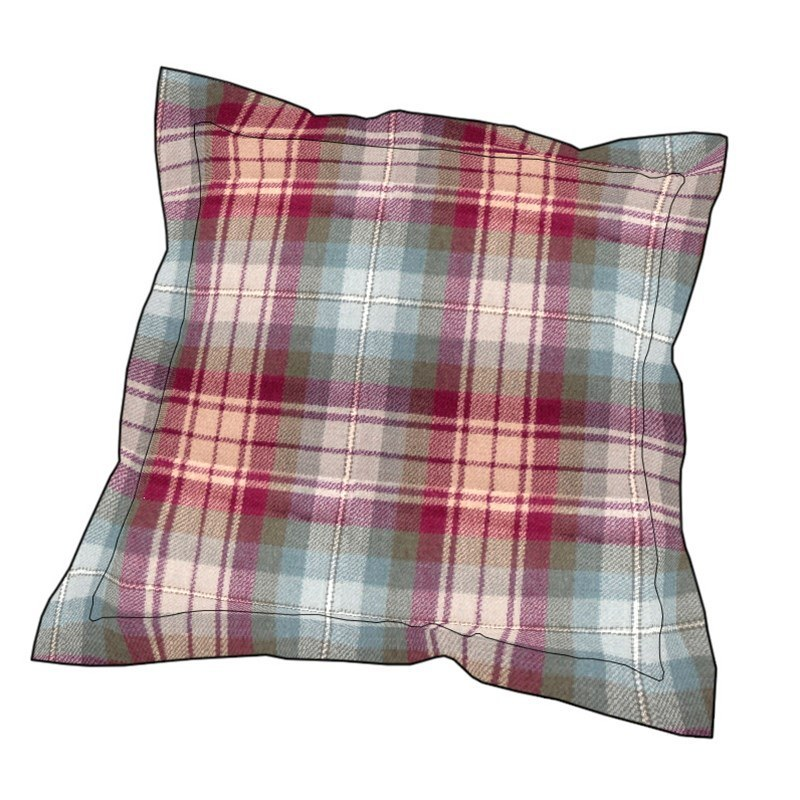 Essential Plaid Pillow Cover in Auld Scotland