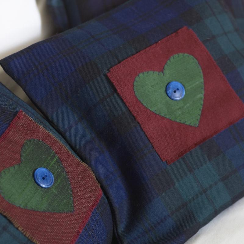 Cushions pictured in the Black Watch Modern tartan