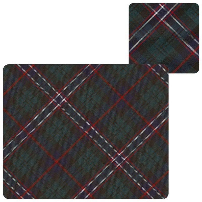 Tartan Tablemats & Coasters Set in Scottish National