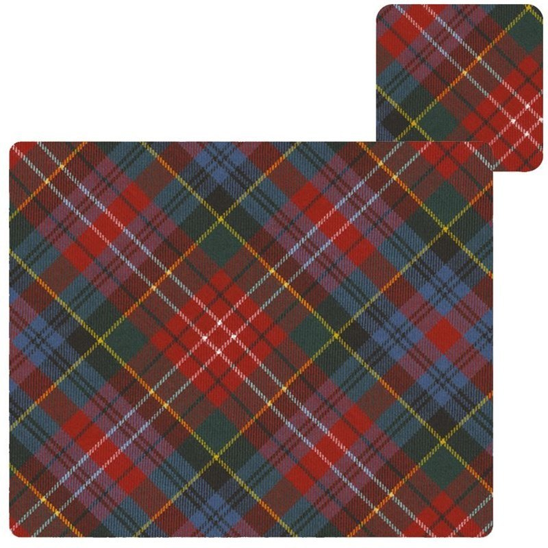 Tartan Tablemats & Coasters Set in Caledonia Modern