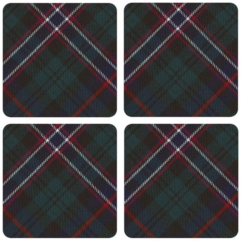 Tartan Quadratisch Untersetzer  in Scottish National