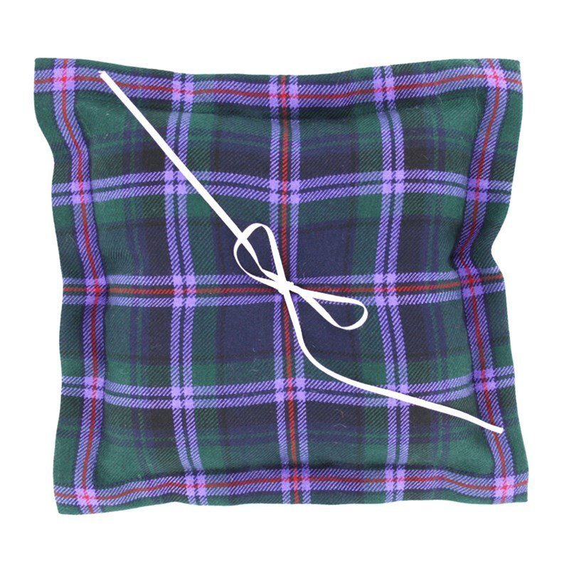 Plaid Ring Pillow in Cooper Modern