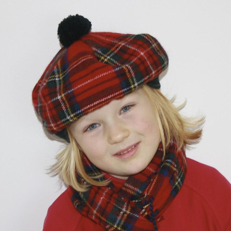 Tartan Tam für Kinder in Stewart Royal