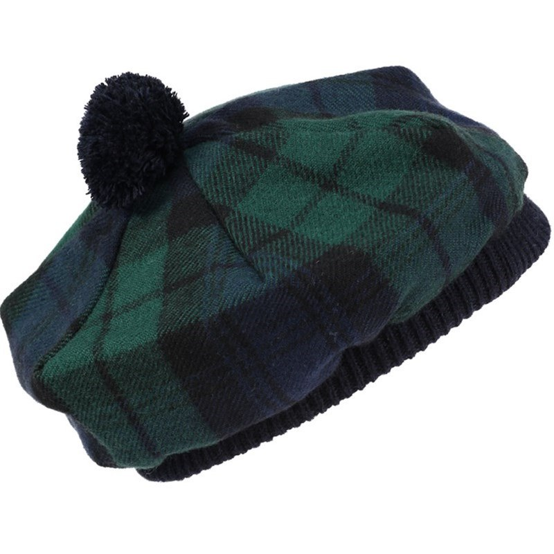 Béret Ecossais (Tartan Tam) Enfant in Black Watch Modern