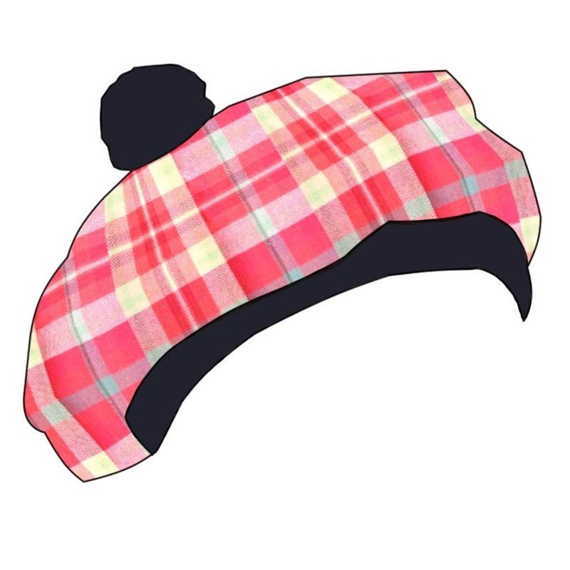 Béret Ecossais (Tartan Tam) Enfant in Highland Rose