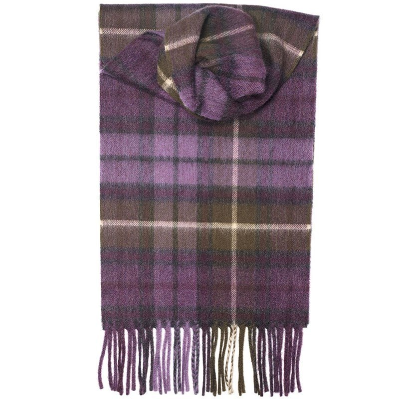 Classic Tartan Cashmere Scarf in Buchanan Heather