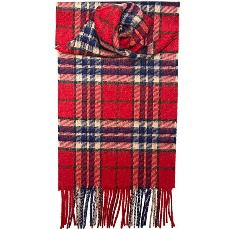Classic Tartan Cashmere Scarf in Thompson Red Antique
