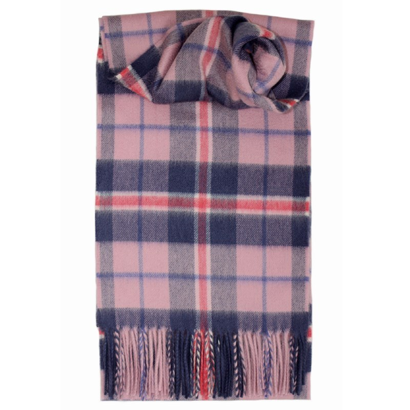 Classic Tartan Cashmere Scarf in Douglas Heather