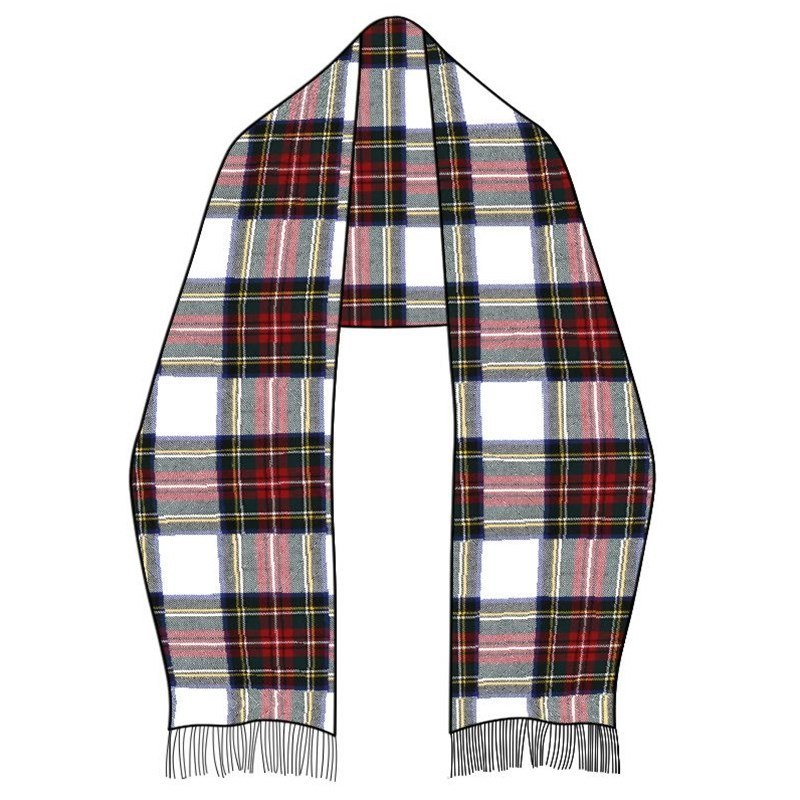 Wool Tartan Stole in Stewart Dress Modern