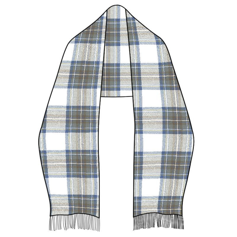 Wool Tartan Stole in Stewart Blue Dress
