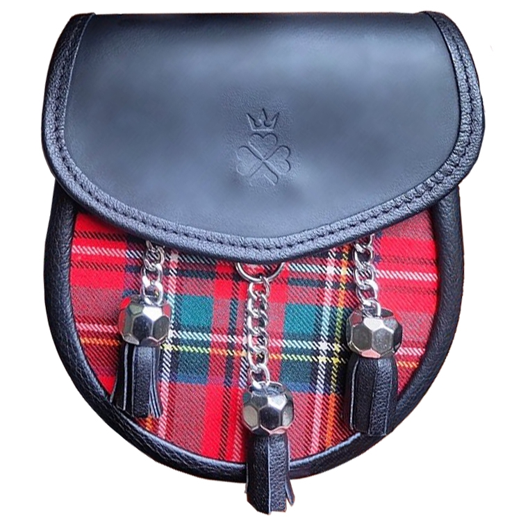 Tartan Sporran Bag in Stewart Royal