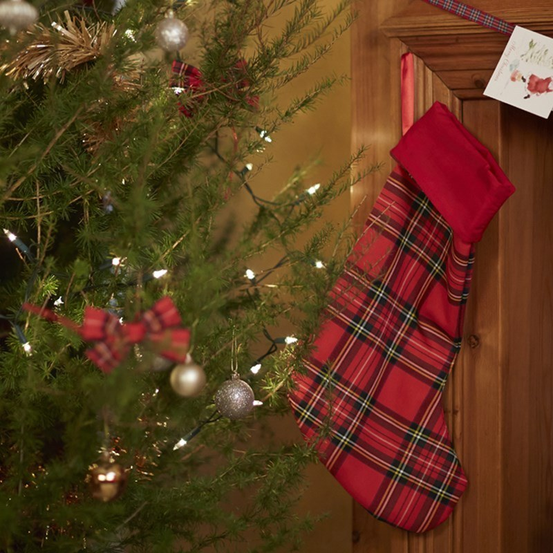 Tartan Christmas Stocking in Stewart Royal
