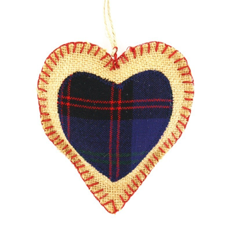Scottish Plaid Heart in Montgomery Modern