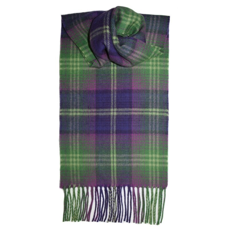 Brushed Wool Tartan Scarf in Troon