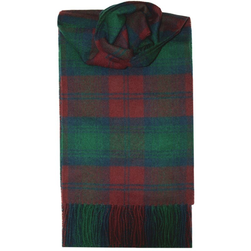 Brushed Wool Tartan Scarf in Lindsay Modern