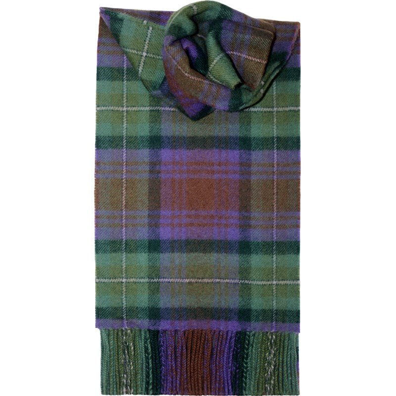 Brushed Wool Tartan Scarf in Isle of Skye