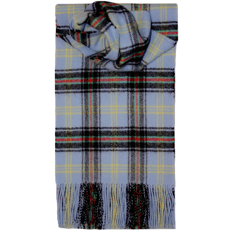 Brushed Wool Tartan Scarf in Bell of the Borders