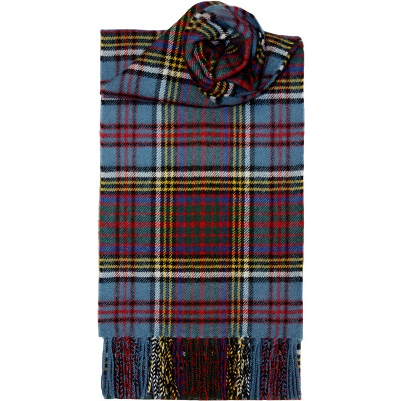 Brushed Wool Tartan Scarf in Anderson Modern