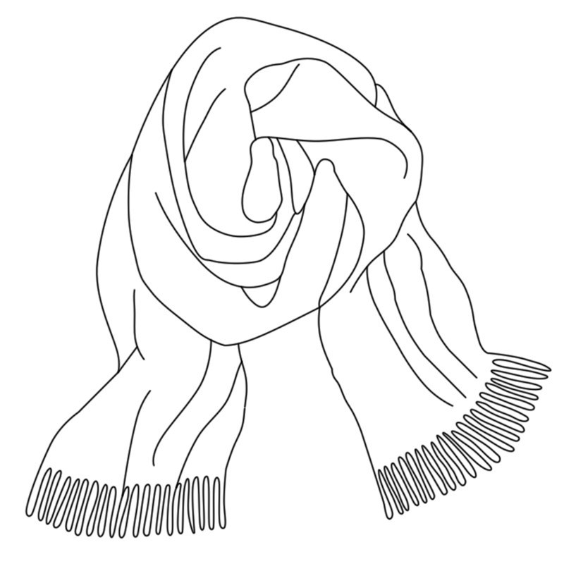 Brushed Wool Plaid Scarf