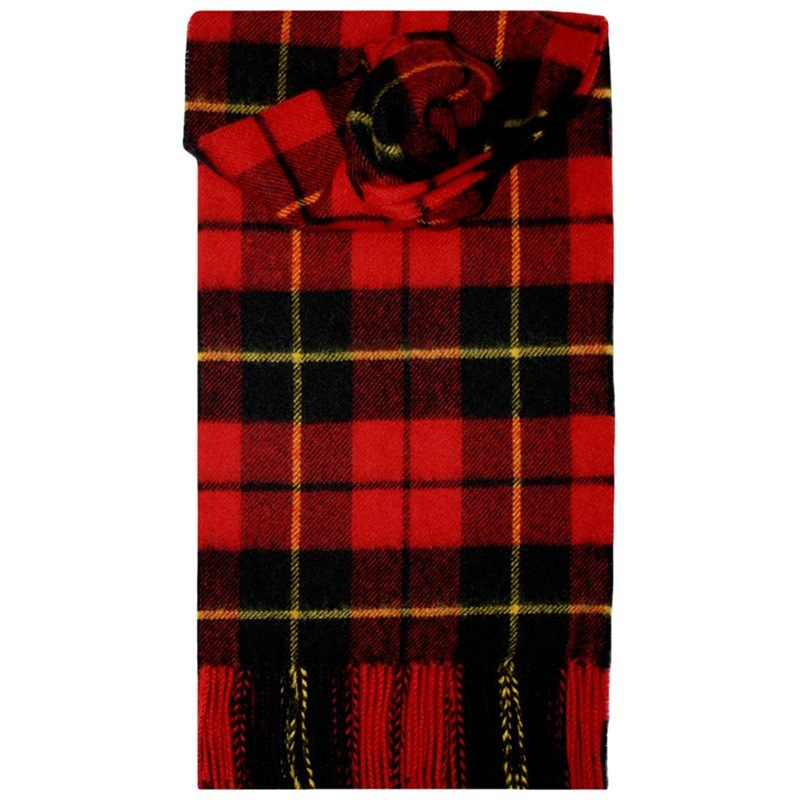 Brushed Wool Tartan Scarf in Wallace Modern
