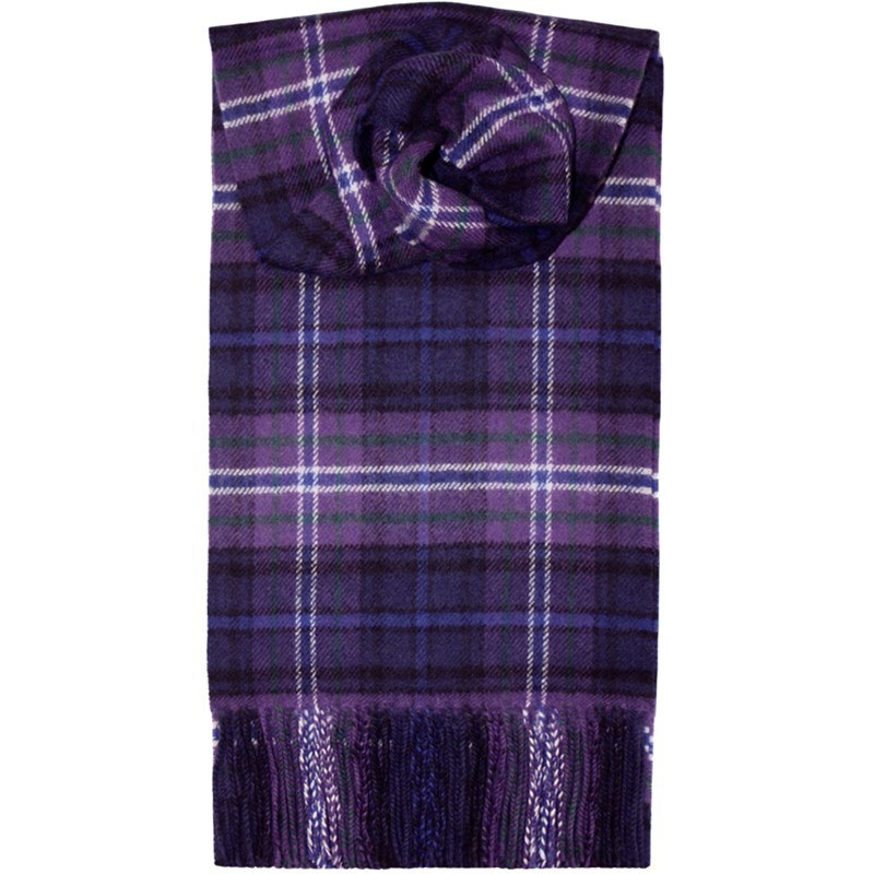 Brushed Wool Tartan Scarf in Scotland Forever