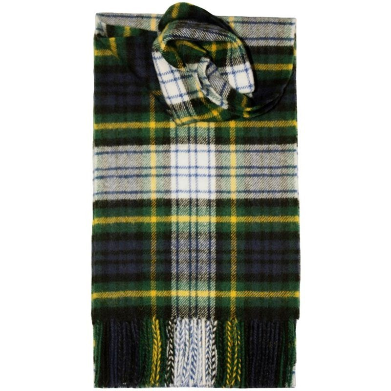 Brushed Wool Tartan Scarf in Gordon Dress Modern