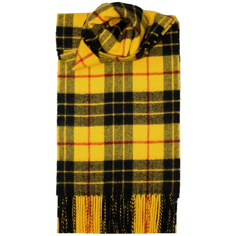 Brushed Wool Tartan Scarf in MacLeod Dress Modern