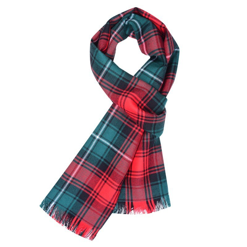 Woven Tartan Scarf in Duns Pipe Band