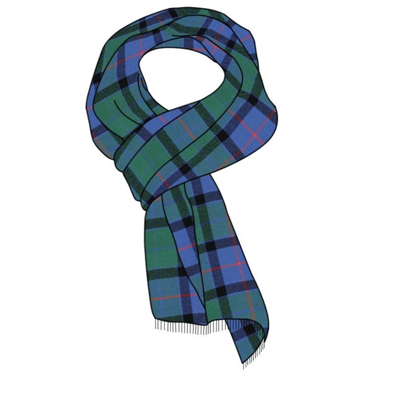 Woven Tartan Scarf Flower of Scotland