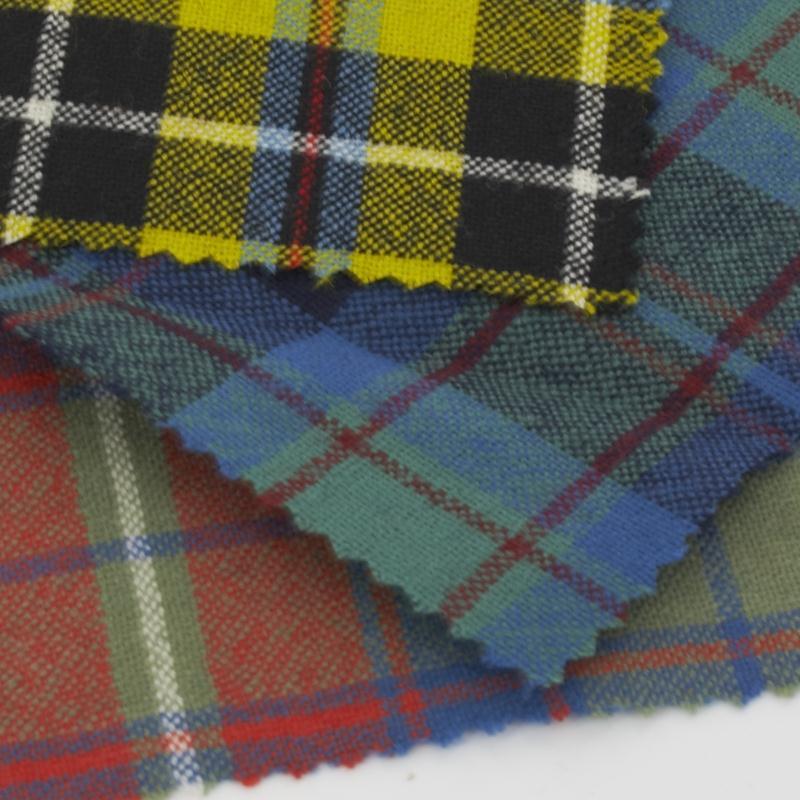 8oz Wool Tartan Fabric Swatches