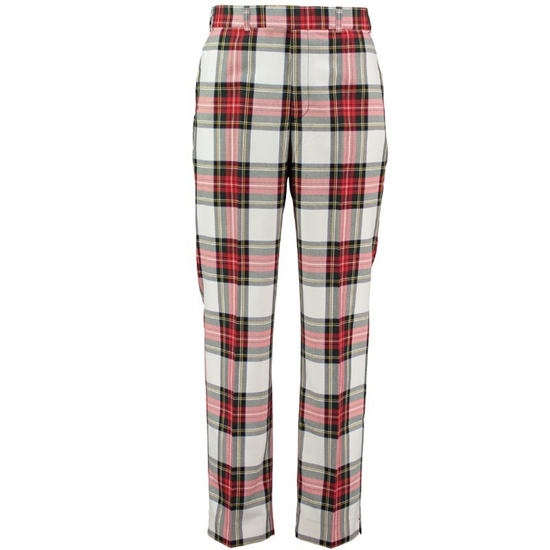 Plaid Golf Pants in Stewart Dress Modern PolyViscose BA124T