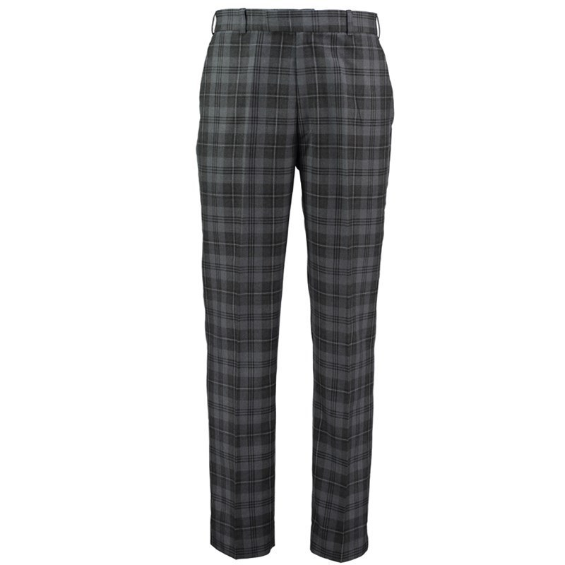 Plaid Golf Pants in Grey Granite PolyViscose BA353T