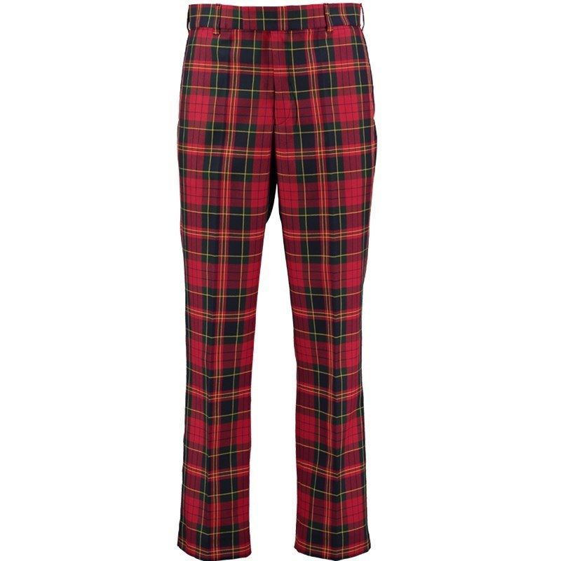 Plaid Golf Pants in Cranford Red PolyViscose BA179T