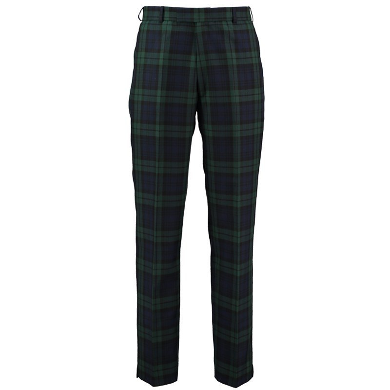 Plaid Golf Pants in Black Watch Modern GT PolyViscose BA054T