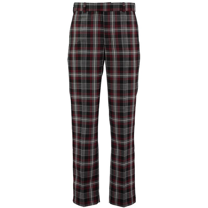 Plaid Golf Pants in Auld Lang Syne Grey PolyViscose BA489T