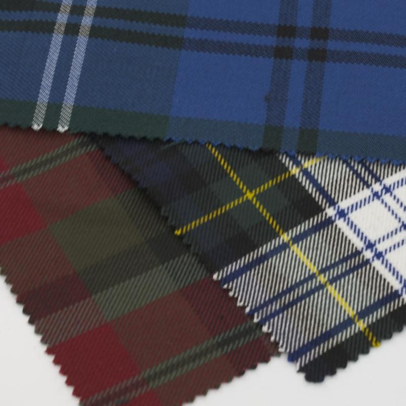Polyviscose Tartan Fabric Swatches