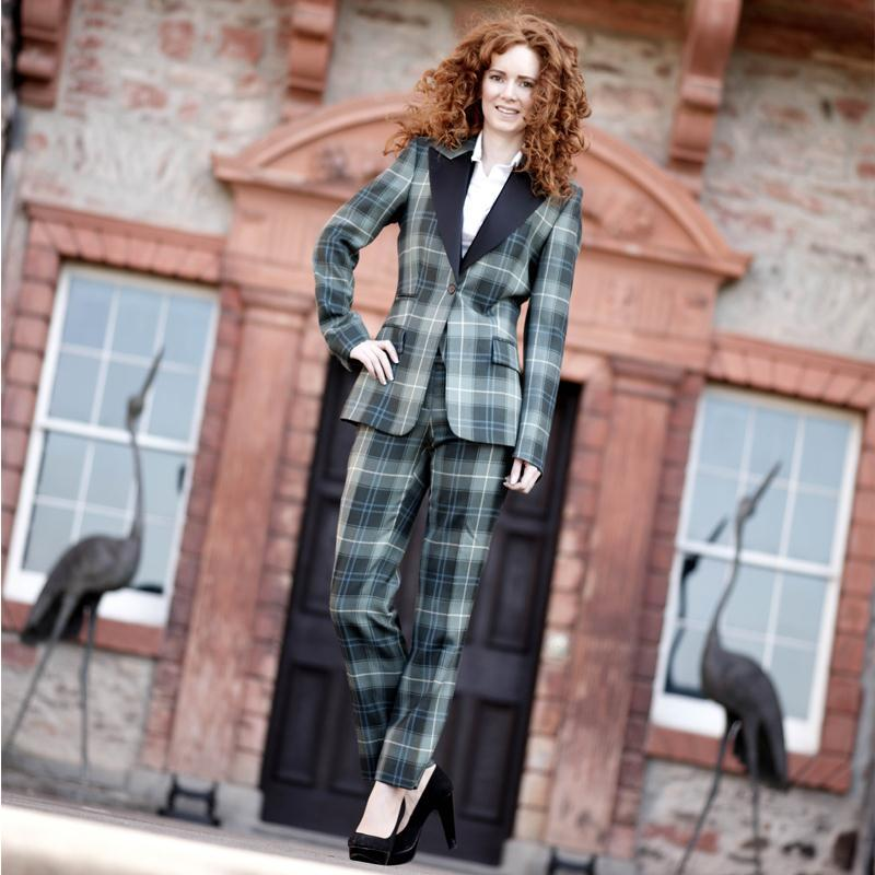 Women's Tartan Jacket and Trousers Patriot Weathered