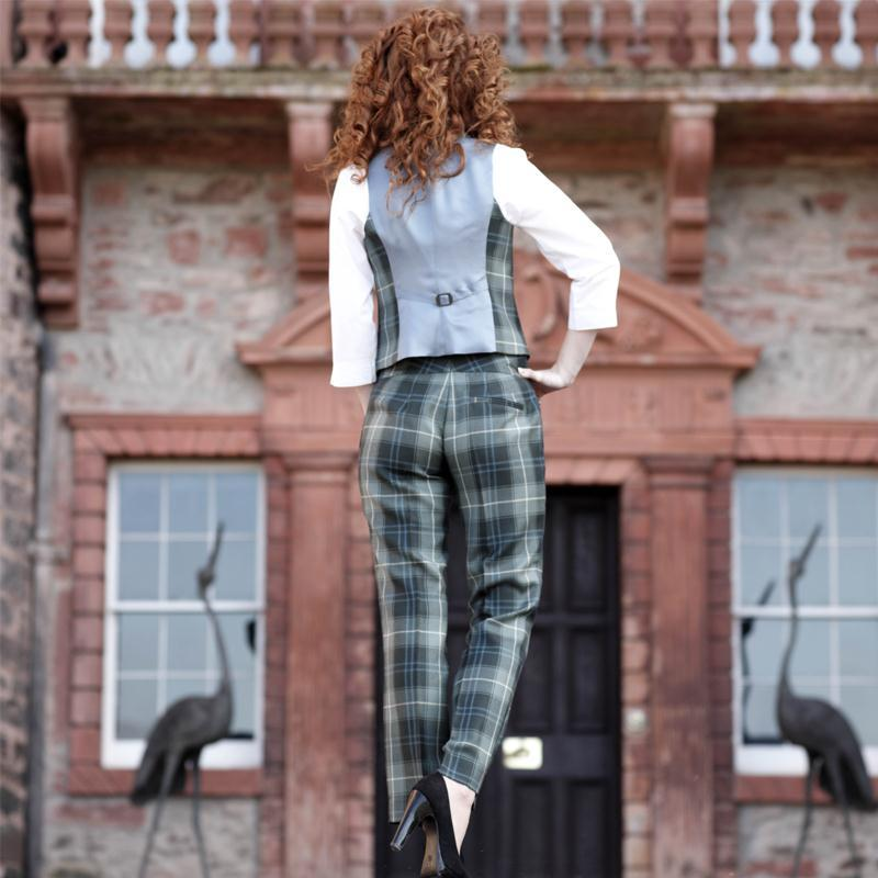 Women's Tartan Trousers Patriot Weathered