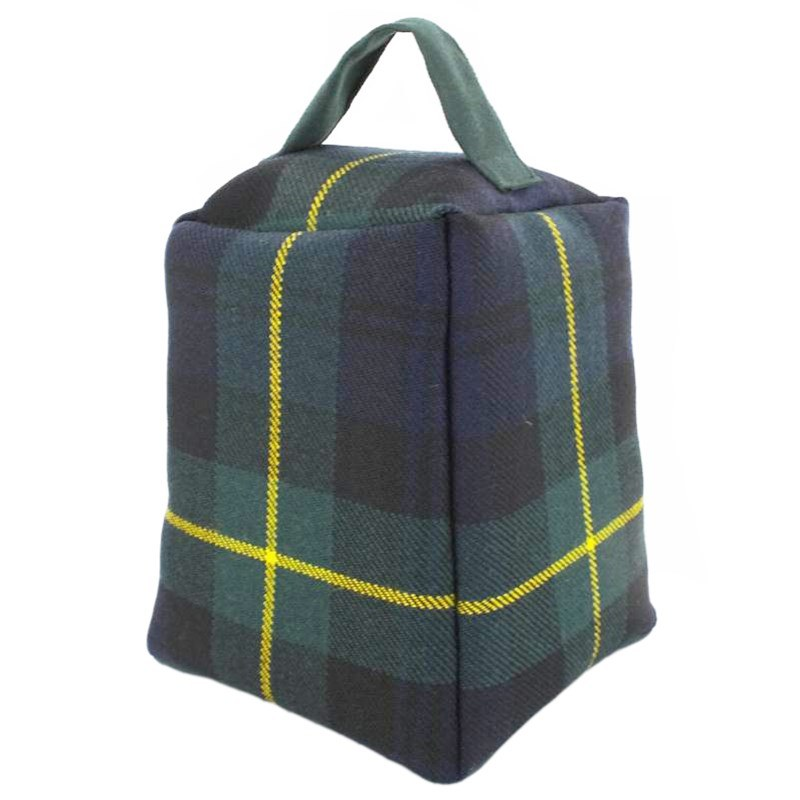 Tartan Doorstop in Gordon Clan Modern