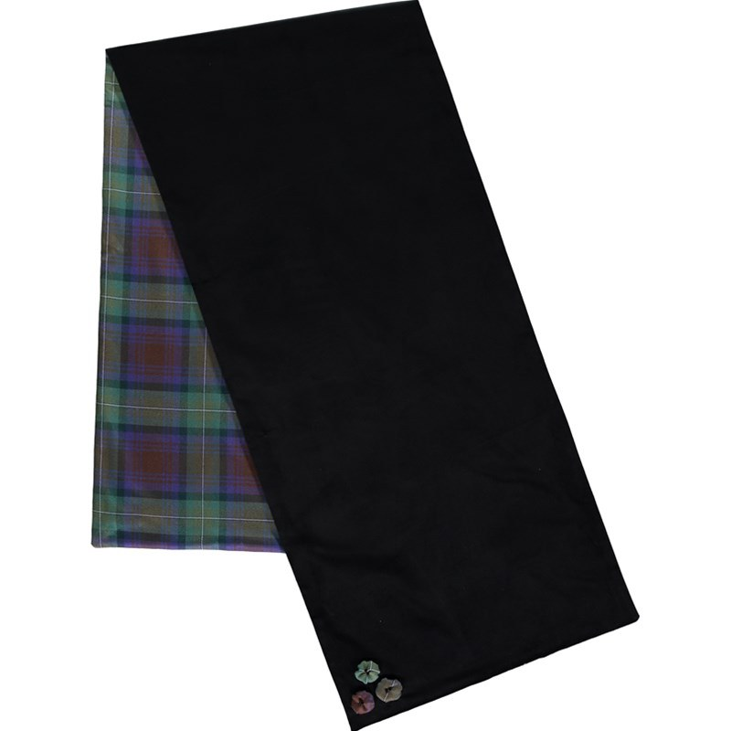 Wool Tartan and Velvet Stole