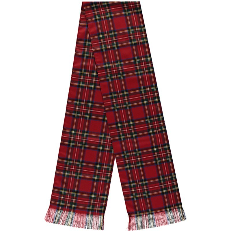 Wool Tartan Sash in Stewart Royal