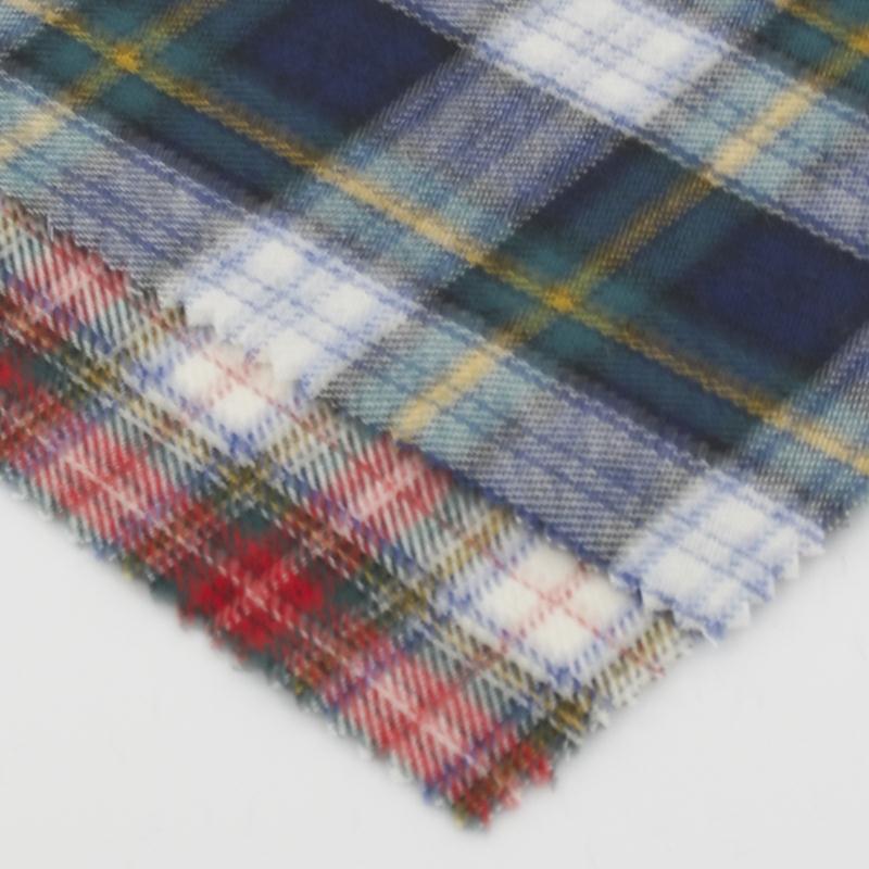 Echantillon de coton pilou ecossais