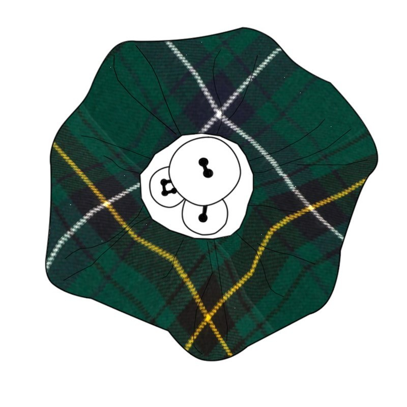 Button Tartan Brooch in Henderson Modern