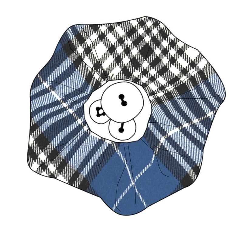 Button Tartan Brooch in Napier Modern