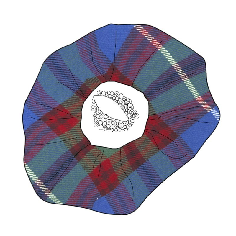 Beaded Tartan Brooch in Edinburgh