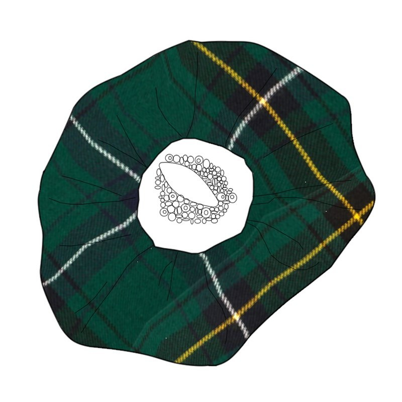 Beaded Tartan Brooch in Henderson Modern