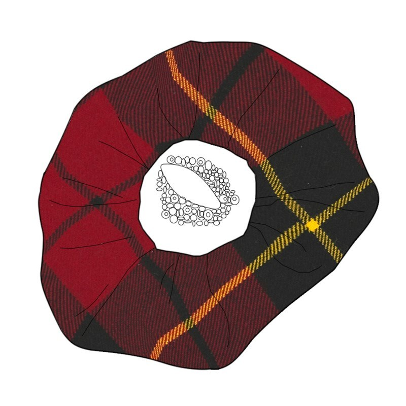 Beaded Tartan Brooch in Wallace Modern