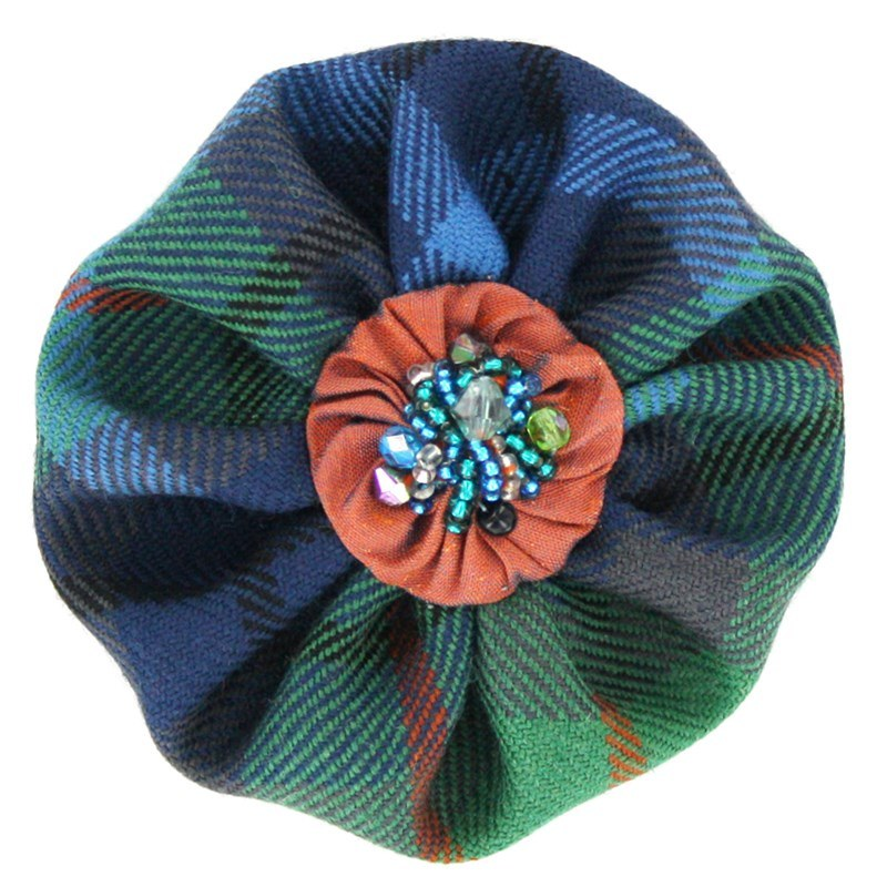 Beaded Tartan Brooch in New York City
