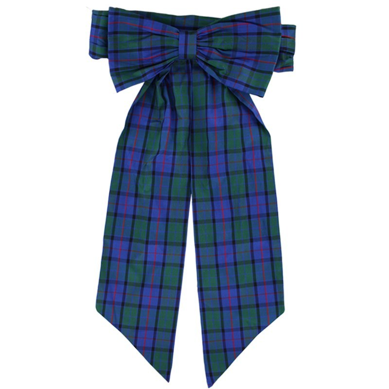 Girl's Silk Plaid Sash with Bow in Flower of Scotland Silk 31013-109