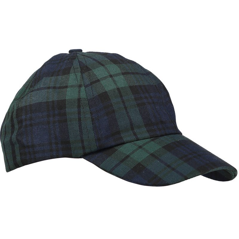 Gorra de Golf Tartán in Black Watch Modern